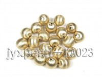18mm Round Golden Gilded Frosted Cooper Beads Accessories