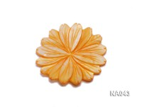 50mmYellow Flower-shaped Shell Jewelry Accessory