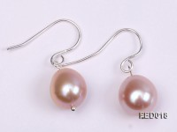 9-10mm Lavender Drop-shaped Cultured Freshwater Pearl Earrings