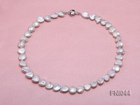 Classic 11mm White Heart-shaped Freshwater Pearl Necklace