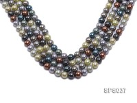 Wholesale 8mm Multi-color Round Seashell Pearl String