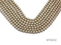 Wholesale 8mm Olive Round Seashell Pearl String