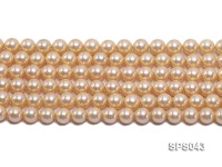 Wholesale 8mm Round Yellow Seashell Pearl String