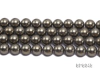 Wholesale 14mm Round Black Green Seashell Pearl String