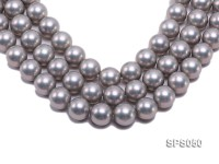 Wholesale 18mm Round Grey Seashell Pearl String