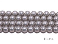 Wholesale 16mm Round Grey Seashell Pearl String
