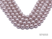 Wholesale 16mm Lavender Round Seashell Pearl String