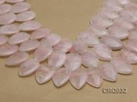 Wholesale 30x20mm Drop-shaped Rose Quartz Pieces String