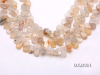 wholesale 9x15mm white drop shape agate strings