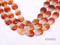 wholesale 9x15mm red drop agate strings