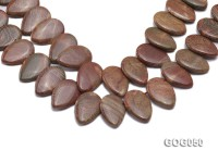 Wholesale 20x30mm Leaf-shaped Picasso Stone String