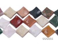 Wholesale 32mm Colorful Square Semiprecious Stone String