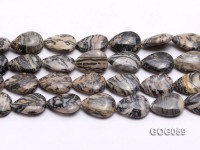 Wholesale 18x23mm Leaf-shaped Picasso Stone String
