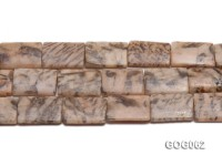 Wholesale 25x17mm Rectangular Picasso Stone String