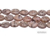 Wholesale 20x15mm Oval Picasso Stone String