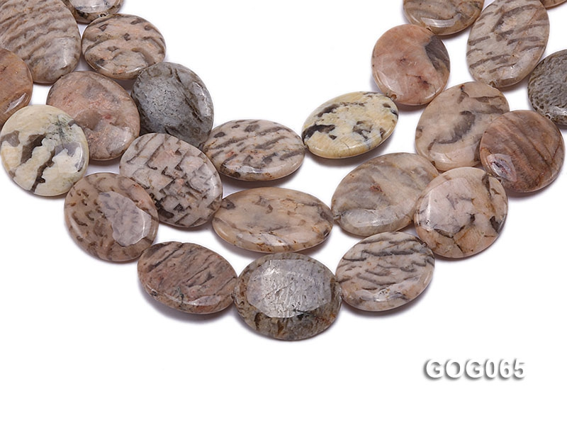 Wholesale 30x25mm Oval Picasso Stone String