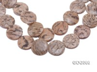 Wholesale 36x36mm Disc-shaped Picasso Stone String