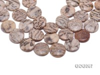 Wholesale 30x30mm Disc-shaped Picasso Stone String