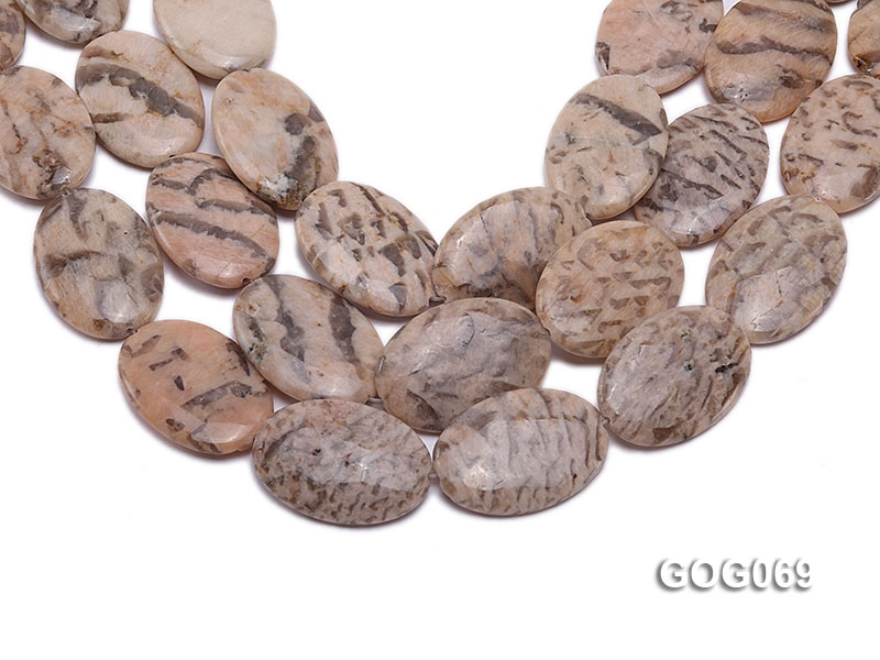Wholesale 37x26mm Oval Picasso Stone String