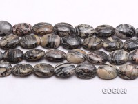 Wholesale 18x13mm Oval Picasso Stone String