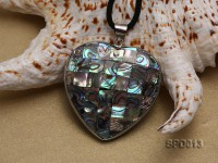 45x47mm Heart-shaped Abalone Shell Pendant