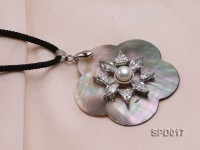 45x47mm Flower-shaped Shell Pendant