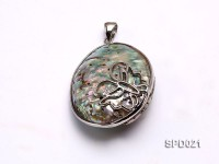 40x55mm Oval Abalone Shell Pendant