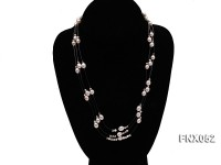 Three-strand 6x8mm White Oval Cultured Freshwater Pearl Necklace