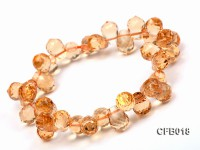 7×9.5mm Drop-shaped Faceted Citrine Easticated Bracelet