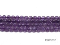 Wholesale 6mm Round Translucent Faceted Amethyst Beads String