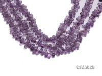 Wholesale 6x8mm Drop-shaped Translucent Amethyst Beads String