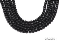 wholesale 9mm round black agate strings
