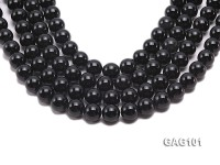 wholesale 14.5mm round black agate strings