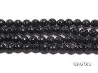 wholesale 7.5mm round black agate strings