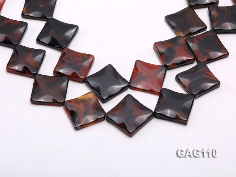 wholesale 25mm square agate pieces strings