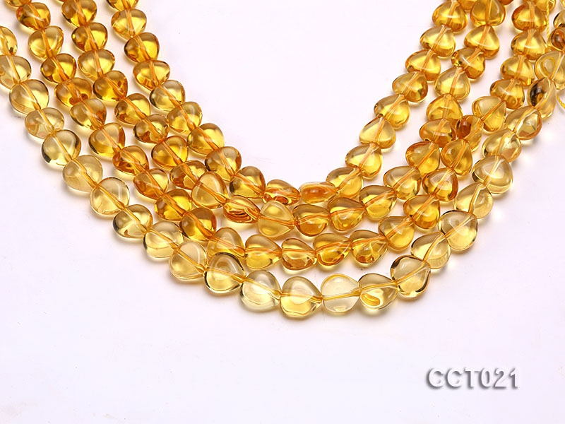 Wholesale 10mm Heart-shaped Citrine Beads String
