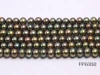 Wholesale 6x7mm Flat Cultured Freshwater Pearl String
