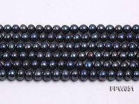 Wholesale 6.5×8.5mm Peacock Flat Cultured Freshwater Pearl String