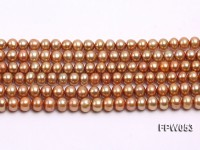 Wholesale 6.5x7mm Dark Coffee Flat Cultured Freshwater Pearl String