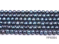 Wholesale 6×6.5mm Peacock Flat Cultured Freshwater Pearl String
