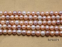 Wholesale AAA-grade 9-10mm Natural Round Freshwater Pearl String