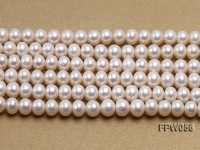 Wholesale 6x8mm Classic White Flat Cultured Freshwater Pearl String