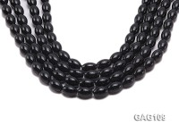 wholesale 14x10mm oval black agate strings