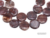 Wholesale 35mm Disc-shaped Gemstone String