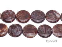 Wholesale 35mm Disc-shaped Gemstone String