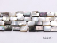 Wholesale 8x12mm Black Rectangular Seashell String