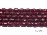 Wholesale 12x17mm Oval Faceted Rose-likeGemstone String