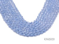 Wholesale 7x10mm Oval Faceted Simulated Aquamarine Beads String