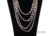 6-10mm Pink Near Round Freshwater Pearl Necklace