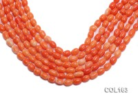 Wholesale 6-8mm Rice-shaped Pink Coral Beads Loose String